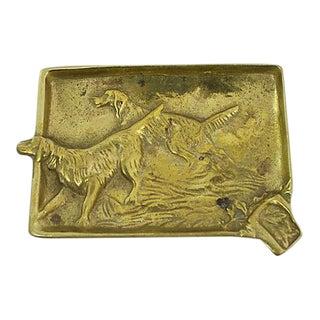 Antique Hunting Dog Ashtray