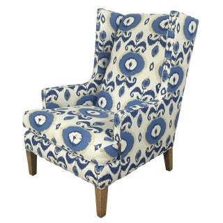Crate & Barrel Patterned Wingback Chair