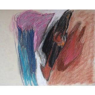 Howard Foote Original Abstract Drawing C. 1959
