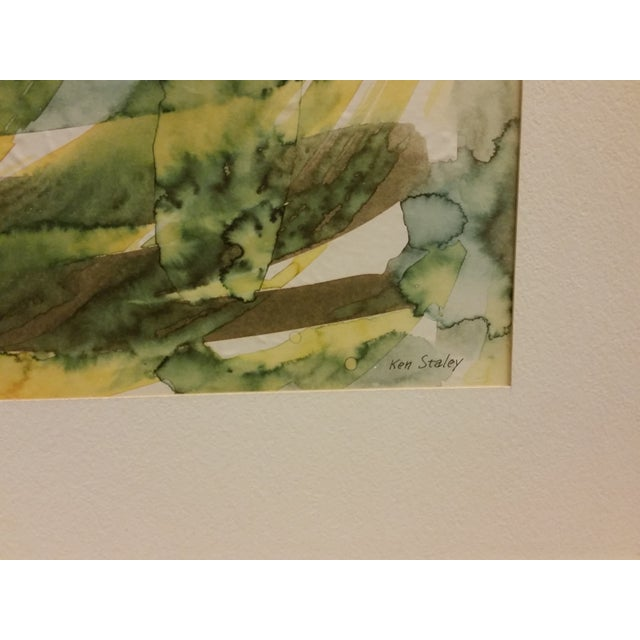 Abstract Expressionist Watercolor Painting - Image 3 of 5