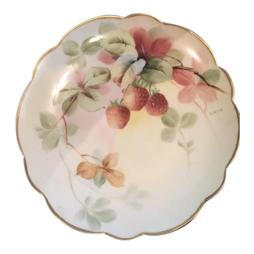 "Image of Limoges Handpainted Plate ""Pitlin & Brooks"""