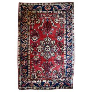 Antique Persian Sarouk Rug - 1′10″ × 2′10″