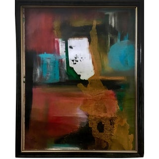 Framed Cuban Abstract Painting