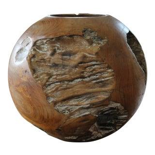 Vintage Teak Bowl Sculpture
