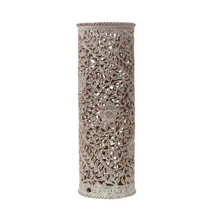 Maroon Pierced Marble Vase