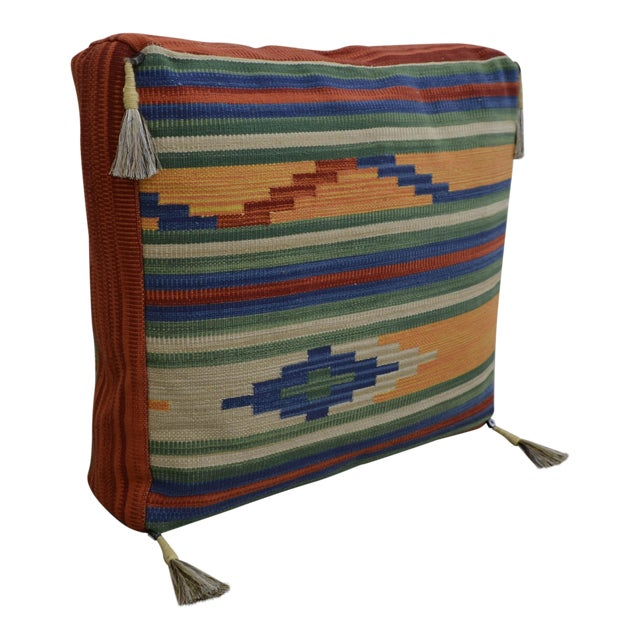 Turkish Kilim Floor Pillow : Turkish Hand Woven Kilim Floor Pillow Chairish