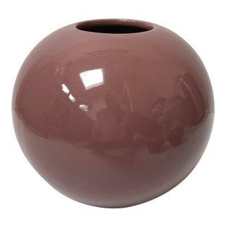 Purple Haeger Pottery Orb Vase