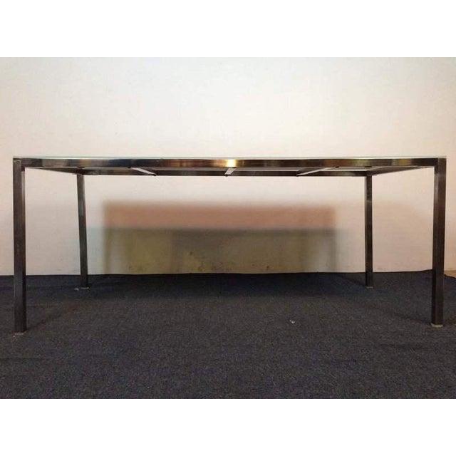 Ikea Torsby White Laminate & Chrome Rectangle Top Table