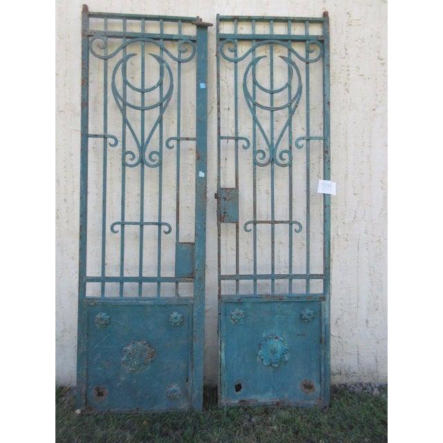 Antique Victorian Iron Gates - A Pair - Image 5 of 8