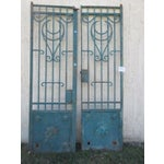 Image of Antique Victorian Iron Gates - A Pair