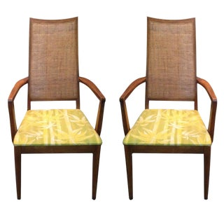 Mid-Century Caned Armchairs - A Pair