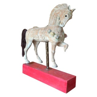 Antique Wooden Carousel Horse