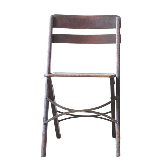 Image of Oak Folding Chair