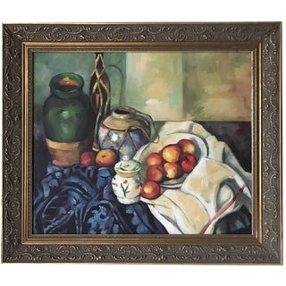 Vintage Post Impressionist Still Life Oil Painting