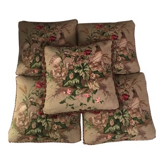 Scalamandre Edwin's Covey Willow Green Pillows - Set of 5