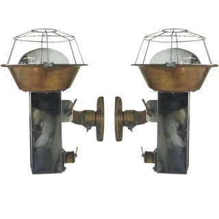 Pair of French Industrial Wall Lights or Sconces