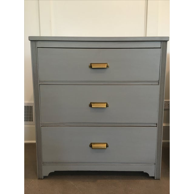 Image of Gray Nightstands - A Pair