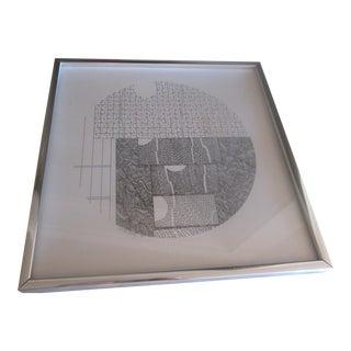 Black and White Geometric Drawing