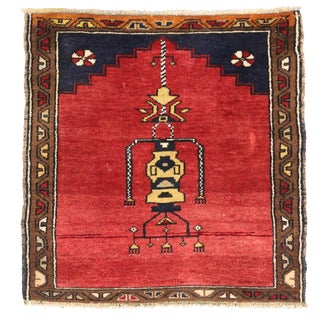 Vintage Turkish Oushak Rug with Modern Style -- 2'10 x 2'10