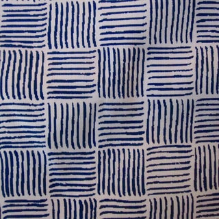 """Alan Campbell for Quadrille's """"Textura I"""" in China Seas French Blue Fabric - 8 Yards"""