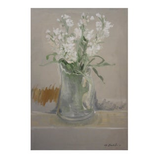 'White Stock in a Glass Vase' Painting