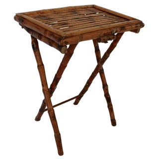 Bamboo Folding Tray Table