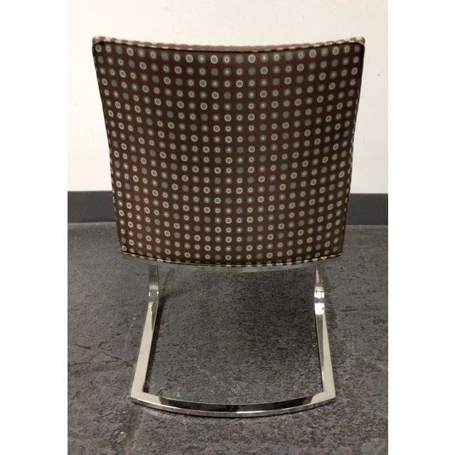 Image of Custom Upholstered Chrome Base Modern Chair
