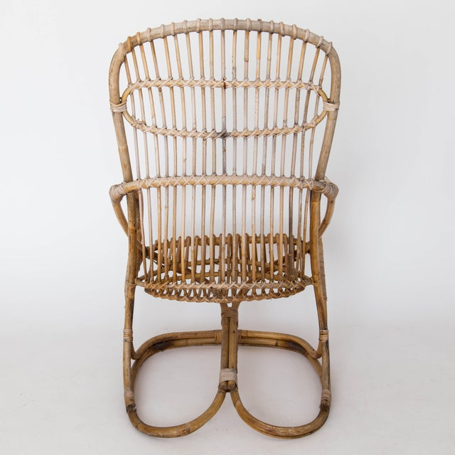 Franco Albini Rattan Lounge Chair & Ottoman - Image 9 of 11