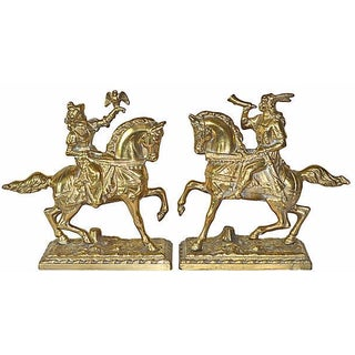 French Ormolu Hunting Couple - A Pair