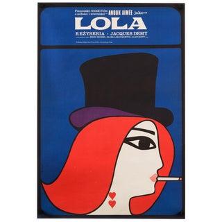 "Vintage ""Lola"" 1967 Polish Film Poster Jacques Demy"