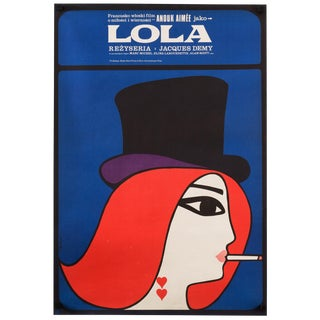 "Vintage ""Lola"" 1967 Polish Film Poster Jacques Demy"