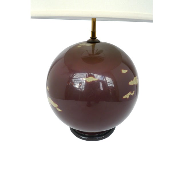 Image of Lacquered Globe Lamp in the style of Karl Springer