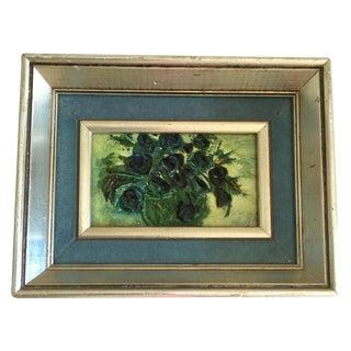 Miniature Vintage Oil Painting
