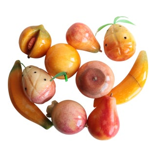 Carved Stone Fruits - Set of 10