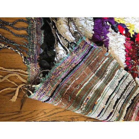 "Vintage ""Goddess"" Moroccan Boucherouite Rug - 4′5″ × 6′7″ - Image 5 of 6"