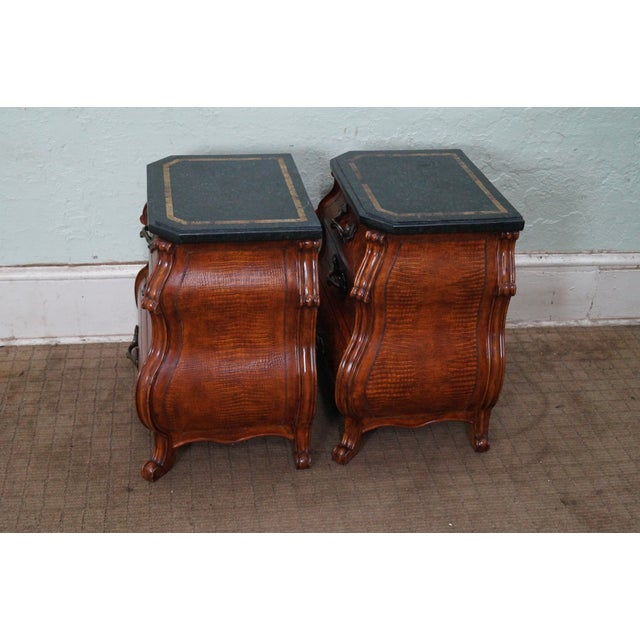 Quality Bombe Leather Wrapped Chests - Pair - Image 3 of 10