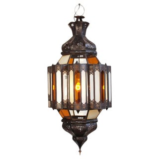 Moroccan Glass & Metal Work Lantern