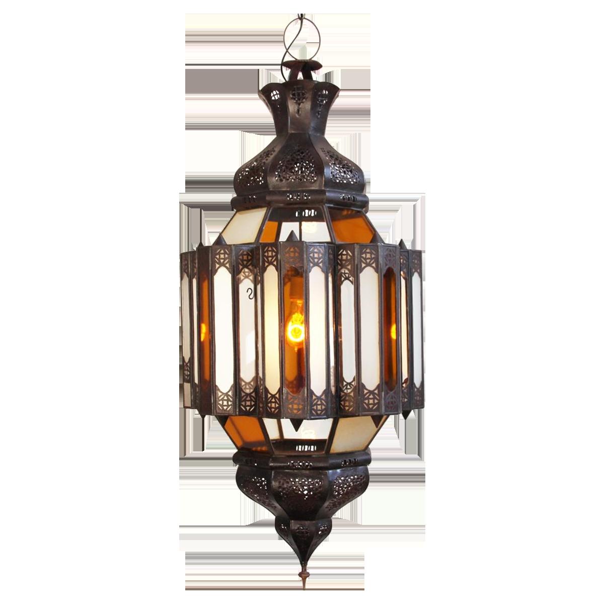 Image of Moroccan Glass & Metal Work Lantern