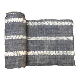 Vintage Hand Woven Gray Hemp Linen Fabric - 6.1 Yards
