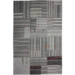 "Aara Rugs Inc. Hand Knotted Patchwork Kilim Rug - 11'5"" X 7'10"""