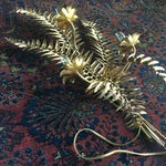 Image of Hollywood Regency Gold Gilt Toleware Wall Sconce