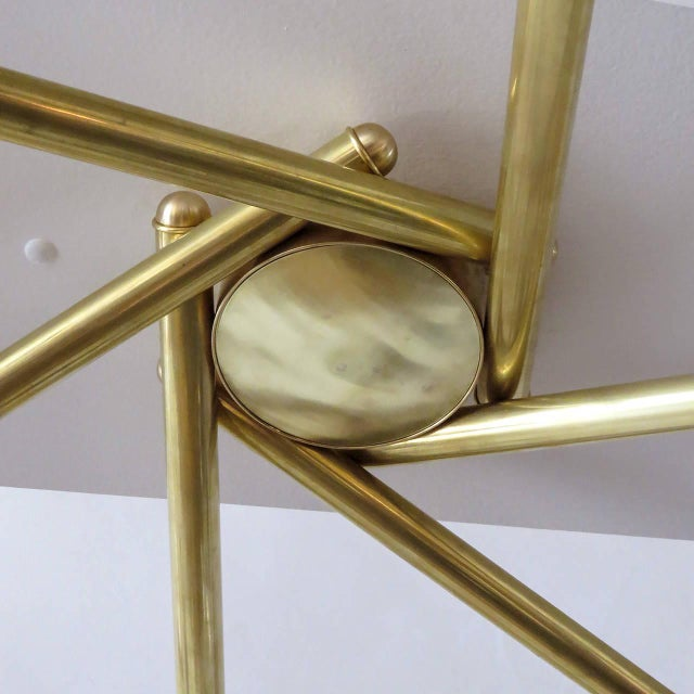Spiral Six-Arm Brass Flush Mount - Image 6 of 10