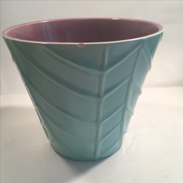 Vintage Blue Catalina Ceramics Planter - Image 5 of 9