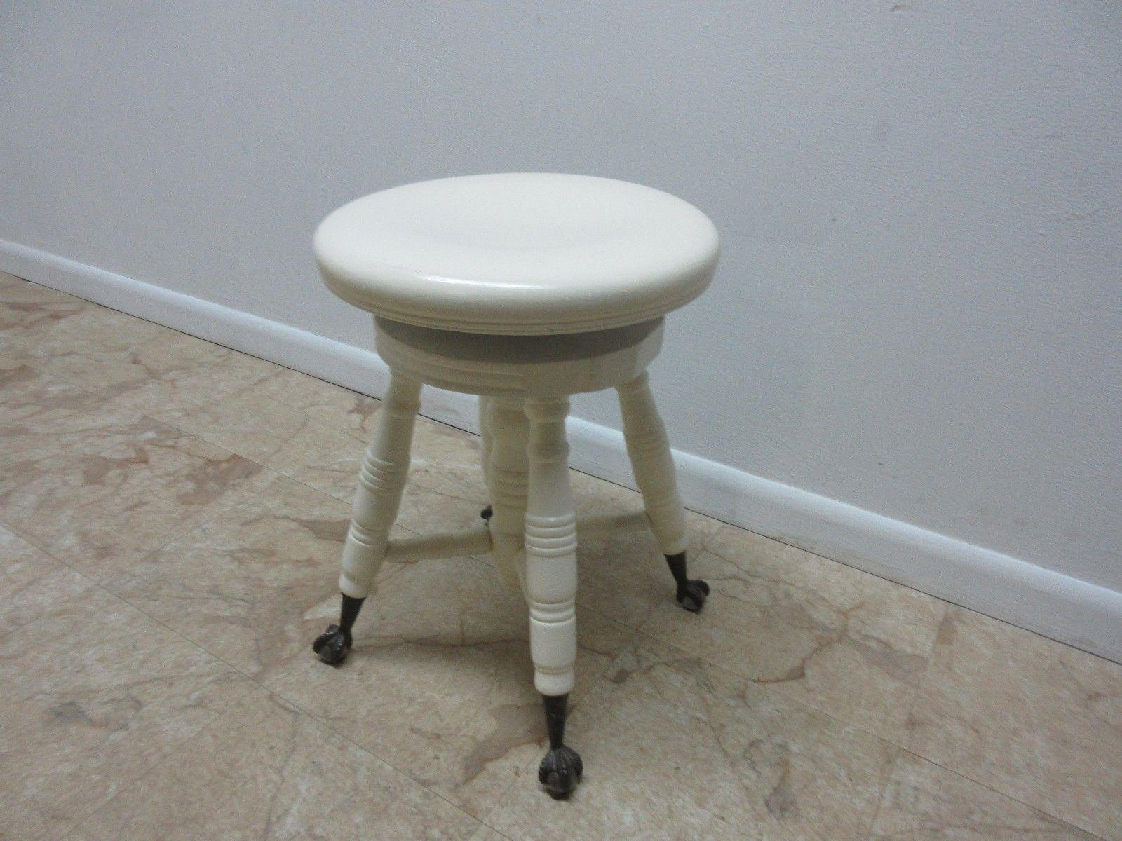 Antique Painted Claw Foot Piano Stool Chairish