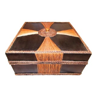 Wood & Rattan Storage Box