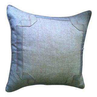 Burlap Pillows with Tape Trim - A Pair
