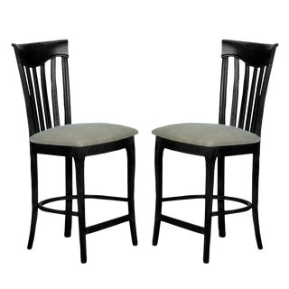 Sarreid Ltd. Beechwood Counter Stools - A Pair