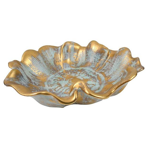 Image of Stangl Vintage 1950s Gilt Flower Bowl