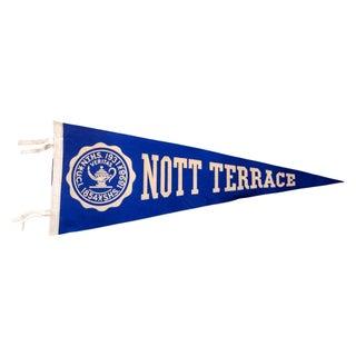 Vintage Nott Terrace High School Felt Flag