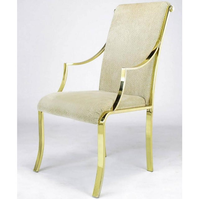 Image of Set of Six Art Deco Revival Brass Dining Chairs by Design Institute of America